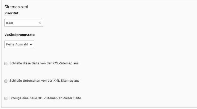 XML-Sitemap-Handling für TYPO3 SEO