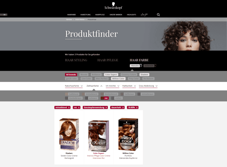 Content Marketing: Ein Produktfinder