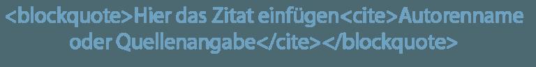 Kein Duplicate Content: Semantische Auszeichnung Zitat