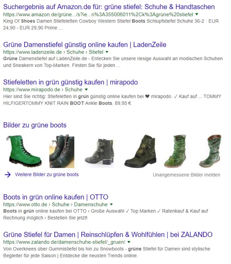 Bilder-SEO: Google SERP zu
