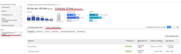 Detailansicht YouTube Keyword-Analyse: Schritt 5