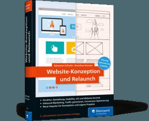 """Buch-Cover des Handbuchs """"Website-Konzeption und Relaunch"""""""