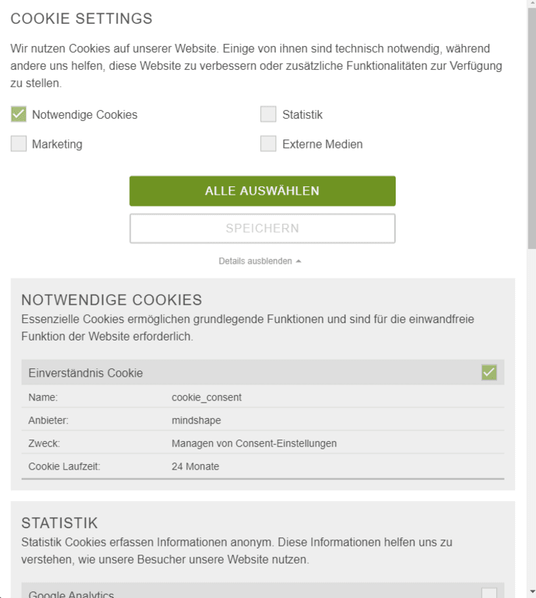 TYPO3 Cookie-Extension von TYPO3 Agentur
