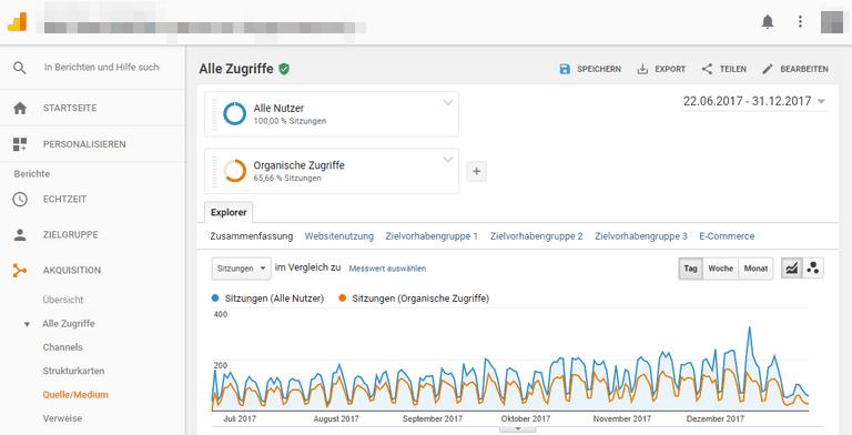 Daten aus Google Analytics auswerten