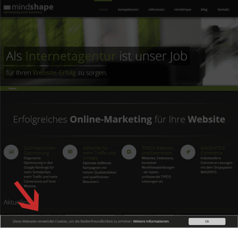 Screenshot TYPO3 Extension von TYPO3 Agentur