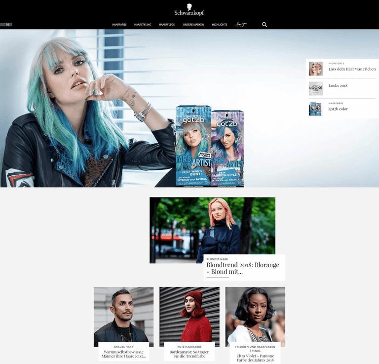 Content Marketing am Beispiel von Schwarzkopf