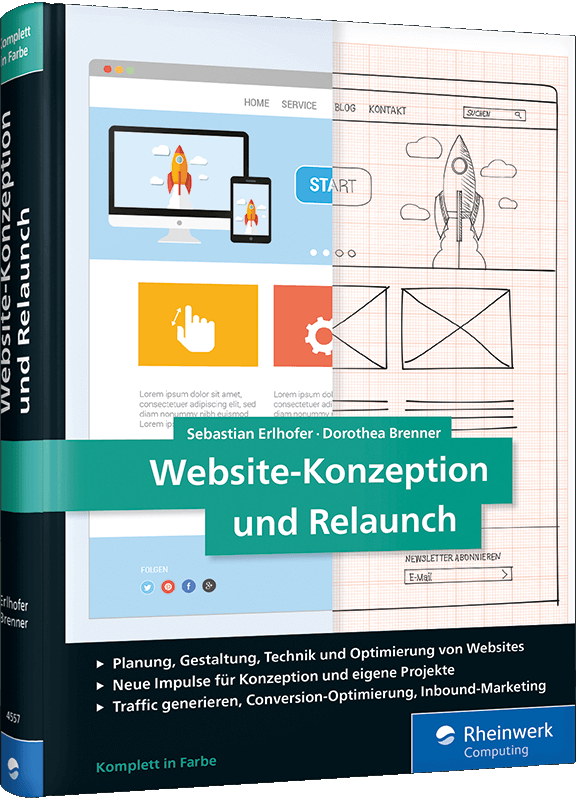 Website-Konzeption und Relaunch Buch-Cover