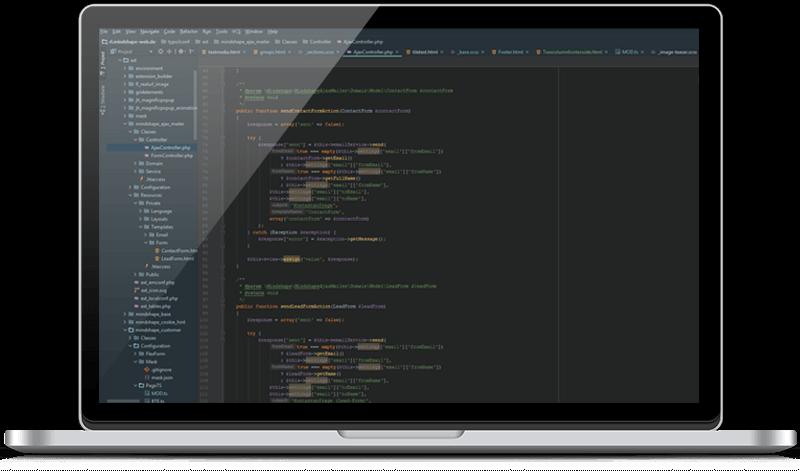 Webentwicklung: Code für Website