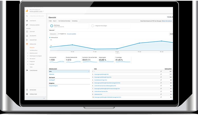 Übersicht Google Analytics zur Webanalyse